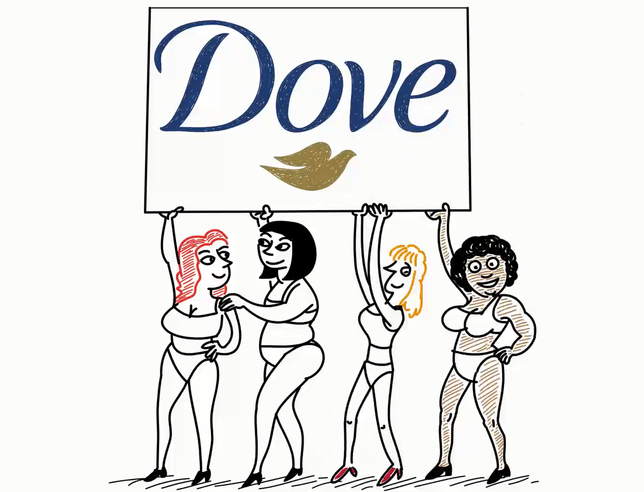 Illustration of the Dove, elearning, whiteboard animations, training